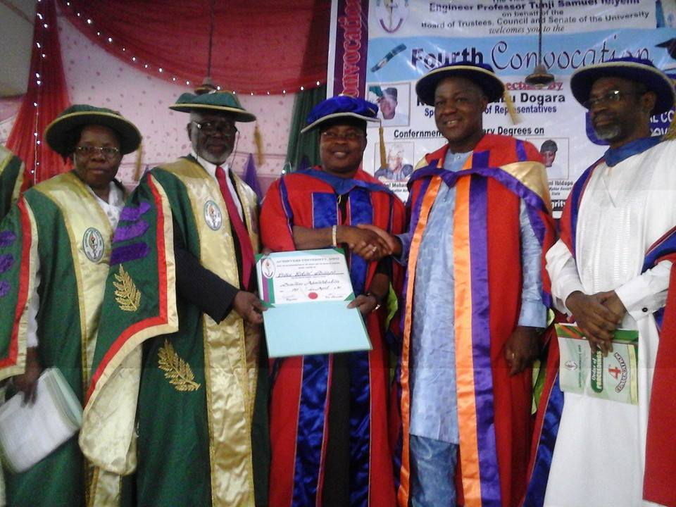 Rotimi Ibidapo Bags Honorary Doctorate Degree