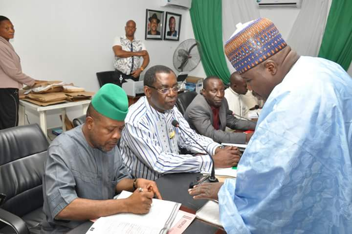 PDP NATIONAL CONVENTION:  SHERIFF, SECONDUS, OTHERS UNDERGO SCREENING