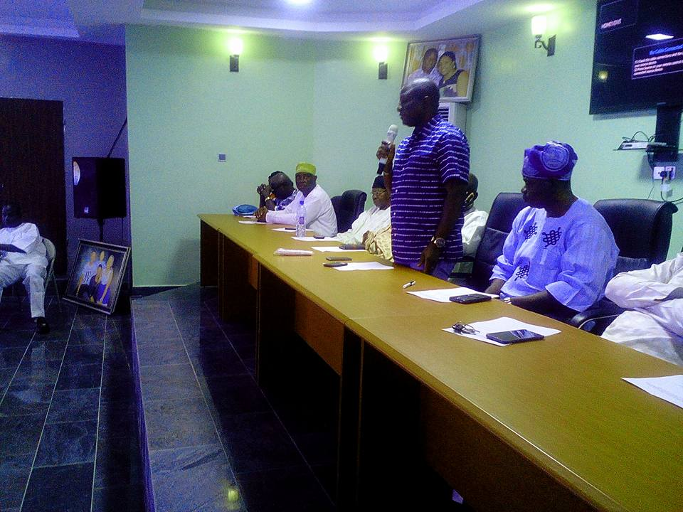 PHOTOS:  Hon. Gbenga Elegbeleye, PDP aspirant holds inaugural campaign meeting with all 18 local government representatives