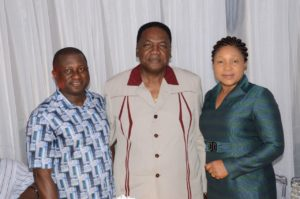 Otunba Gbenga Elegbeleye, his wife and Chief Edem Duke, former minister of Culture and tourism