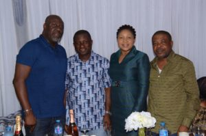 Hon Gbenga Elegbeleye and wife hosted friends at their Asokoro home in Abuja to celebrate 20 years of blissful marriage