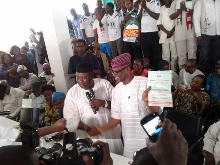 Eyitayo Jegede collects Expression of Interest and Nomination forms