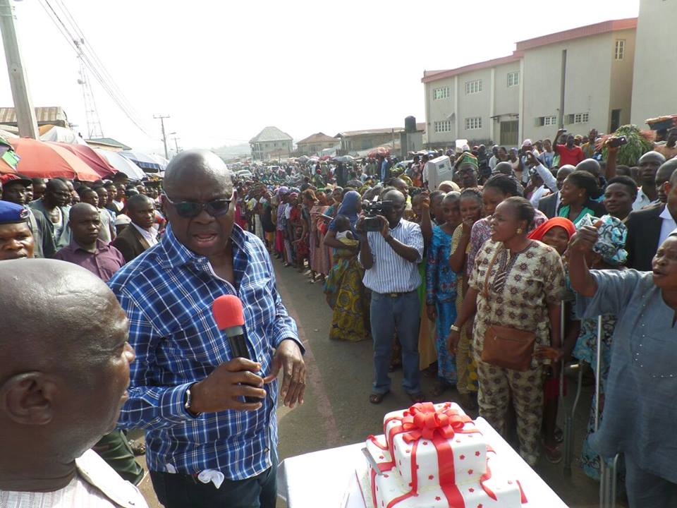 Fayose celebrates birthday on the streets