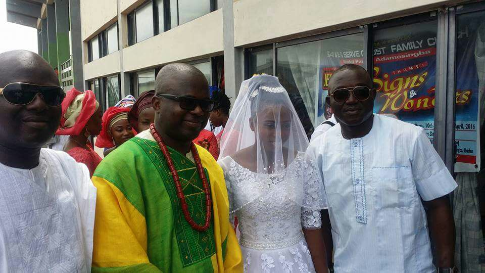 From left: Mr. Dele Agoe, Bride's father, Gboyega Aluko, the bride, Abimbola Oluwatosin and the bride's uncle, Kayode Aluko.