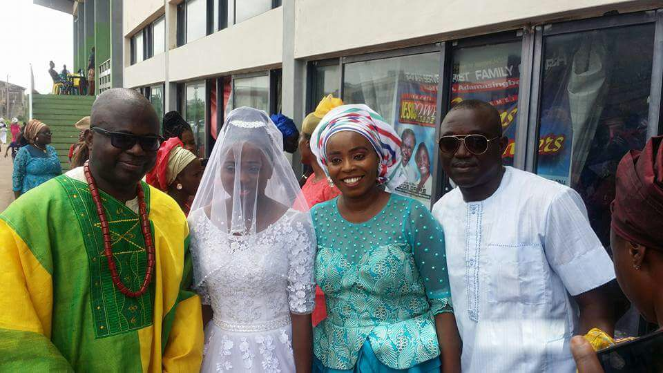 Bride's father, the Bride, Mrs. Morenike Agoe and kayode Aluko.