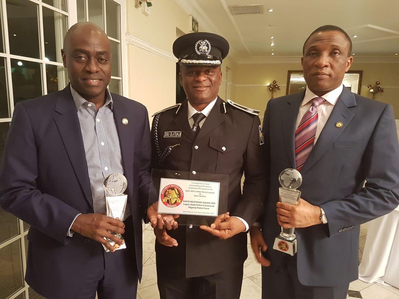 LAGOS EMERGES BEST SECURITY, SAFETY CONSCIOUS STATE IN AFRICA …As RRS Wins Best Anti-Crime Police Squad In West Africa