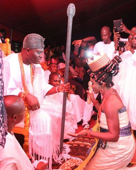 Ooni of Ife Crowns Queen Moremi Ajasoro Who Receives A Toyota Corolla Gift