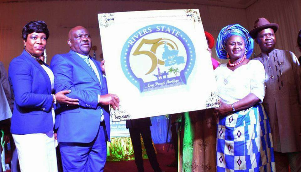 RIVERS AT 50: GOVERNOR WIKE UNVEILS GOLDEN JUBILEE LOGO  • to construct several Jubilee Projects in 2017