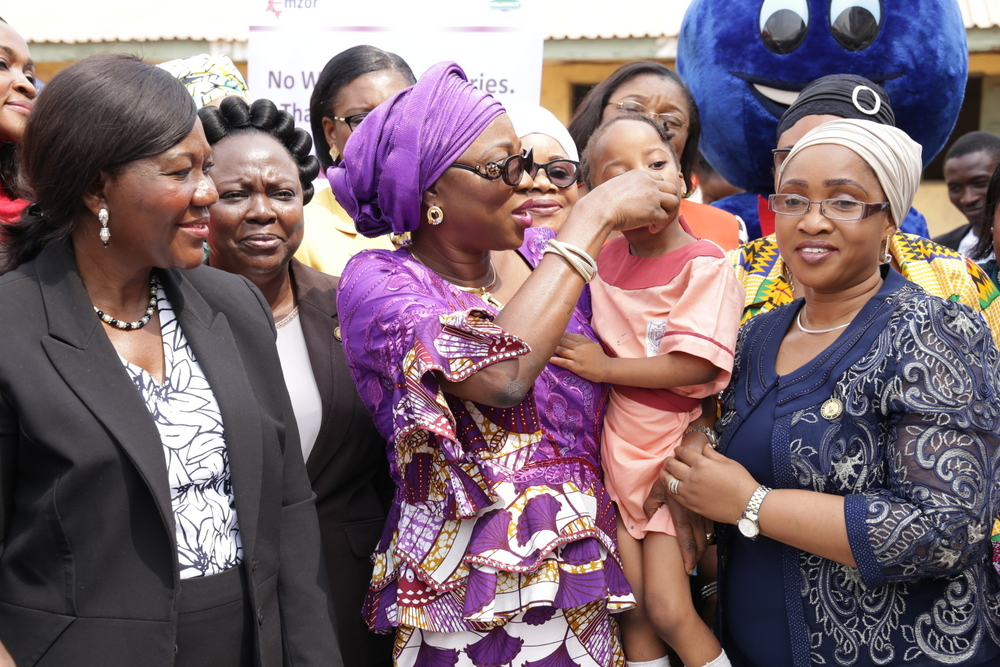 AMBODE WIFE'S FLAGS OFF DEWORMING EXERCISE FOR 60,000 PUPILS…Charges Parents On Clean Environment