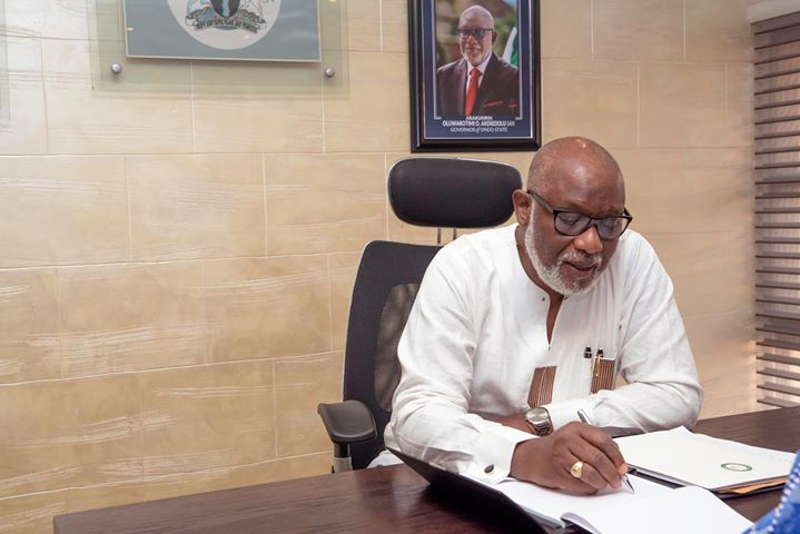 Photos: Arakunrin Oluwarotimi Akeredolu, 6th Democratically Elected Governor of Ondo State First day in office