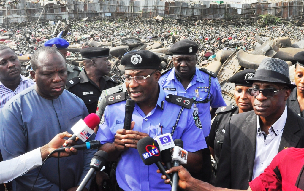 TRAFFIC LAW: LAGOS TO CRUSH OVER 4000 IMPOUNDED COMMERCIAL MOTORCYCLES  …Plans Total Ban In Lekki-VI Axis