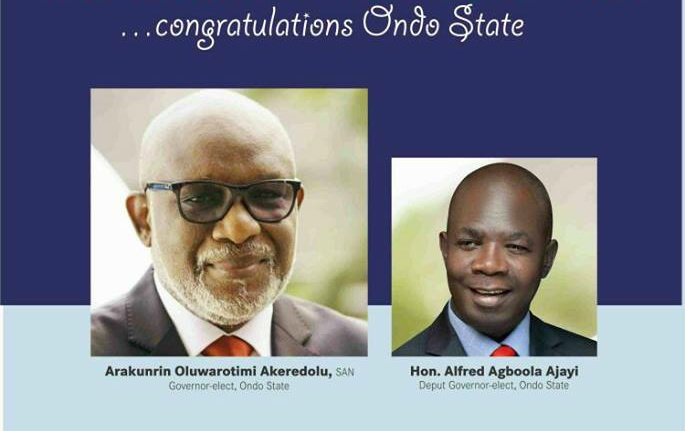 Ondo state Indigenes In Diaspora Congratulate Akeredolu, task him on good governance