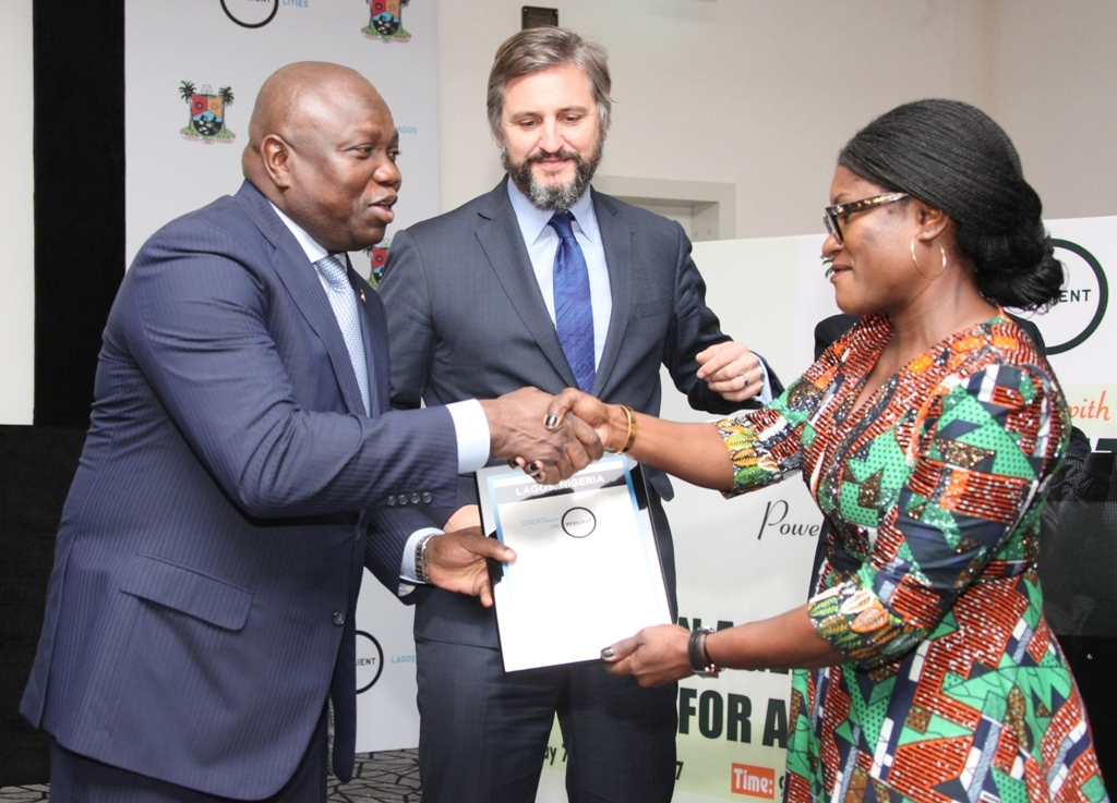 AMBODE RECEIVES CERTIFICATE ADMITTING LAGOS INTO WORLD'S 100 RESILIENT CITIES  …Reveals Plans To Construct Rail Line Linking Ikoyi To Lekki