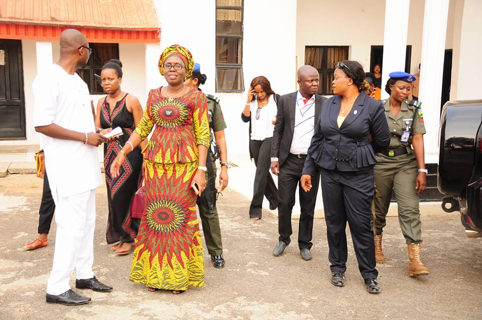 Photos: Ondo State First Lady, Arabinrin Betty Anyanwu Akeredolu on familiarization tour of facilities in the office of the first Lady at Alagbaka