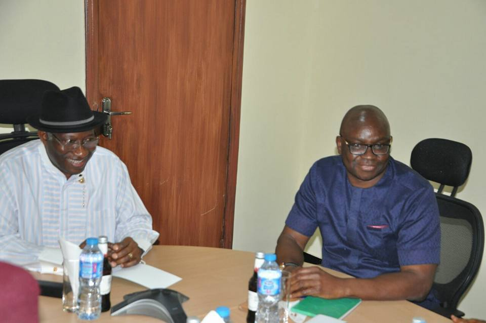 PDP Governors meet Goodluck Jonathan over party crisis