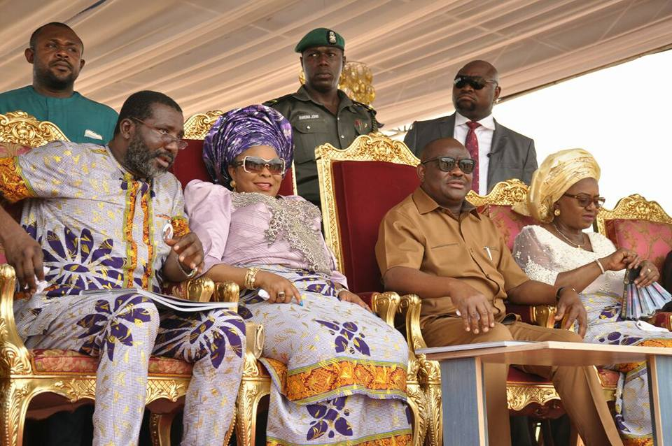 GOVERNOR WIKE, FORMER FIRST LADY IN OMOKU FOR BURIAL OF PA OBUAH