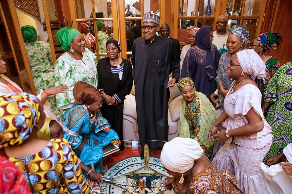 Photos: President Muhammadu Buhari arrives after a medical vacation in London meets with VP, Governors, Ministers, Service Chiefs and Top Government Officials as well as members of his family in State House