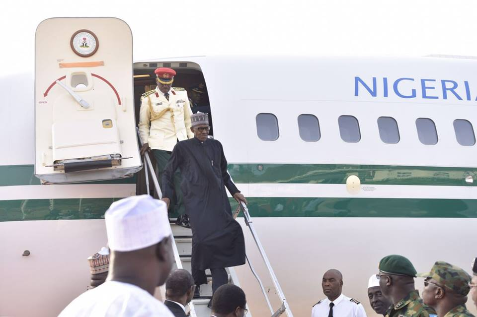 Photos:  President Muhammadu Buhari arriving in Kaduna today