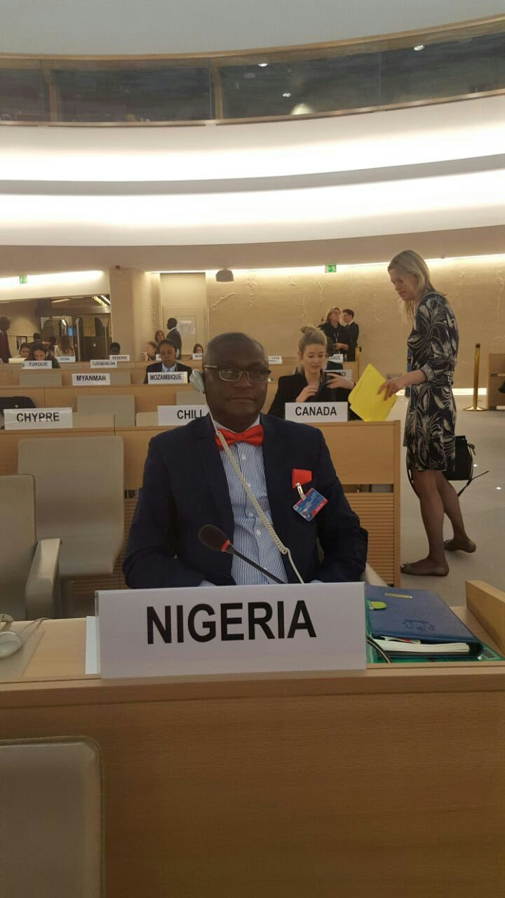 Omogbehin Attends 34th Session of UN Human Rights Council