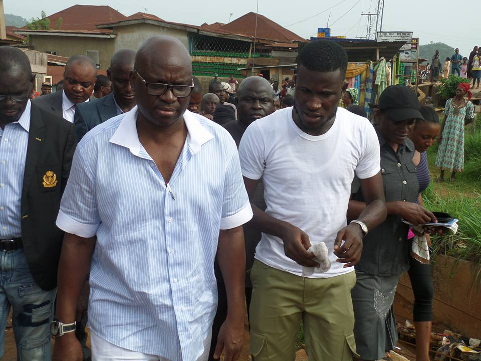 Drama as Corper who sought Photograph with Fayose gets Automatic employment