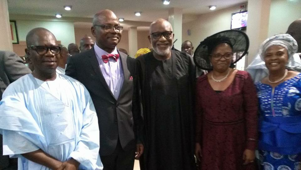 Femi Agagu turns 60; Akeredolu harps on the need for professionals to Develop Ondo state