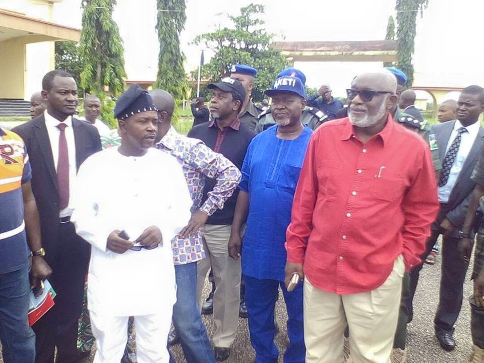 Akeredolu Visits Ondo State House of Assembly Complex
