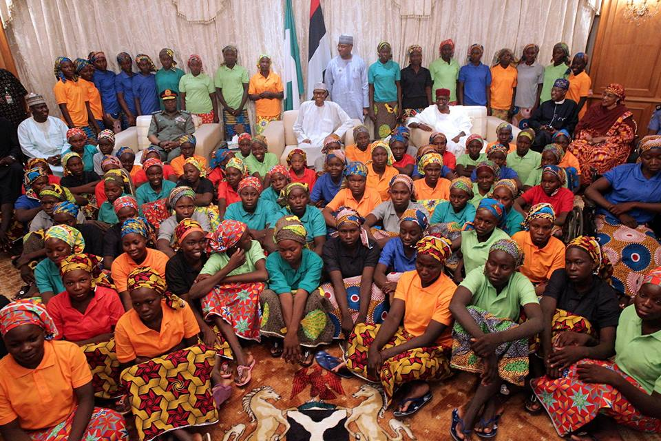 REMARKS BY PRESIDENT MUHAMMADU BUHARI ON THE RELEASE OF THE 82 CHIBOK SECONDARY SCHOOL GIRLS