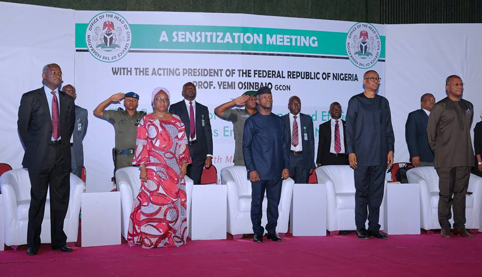 Praying or fasting cannot make Nigeria grow without the hard work that makes Nations work, Says Osinbajo