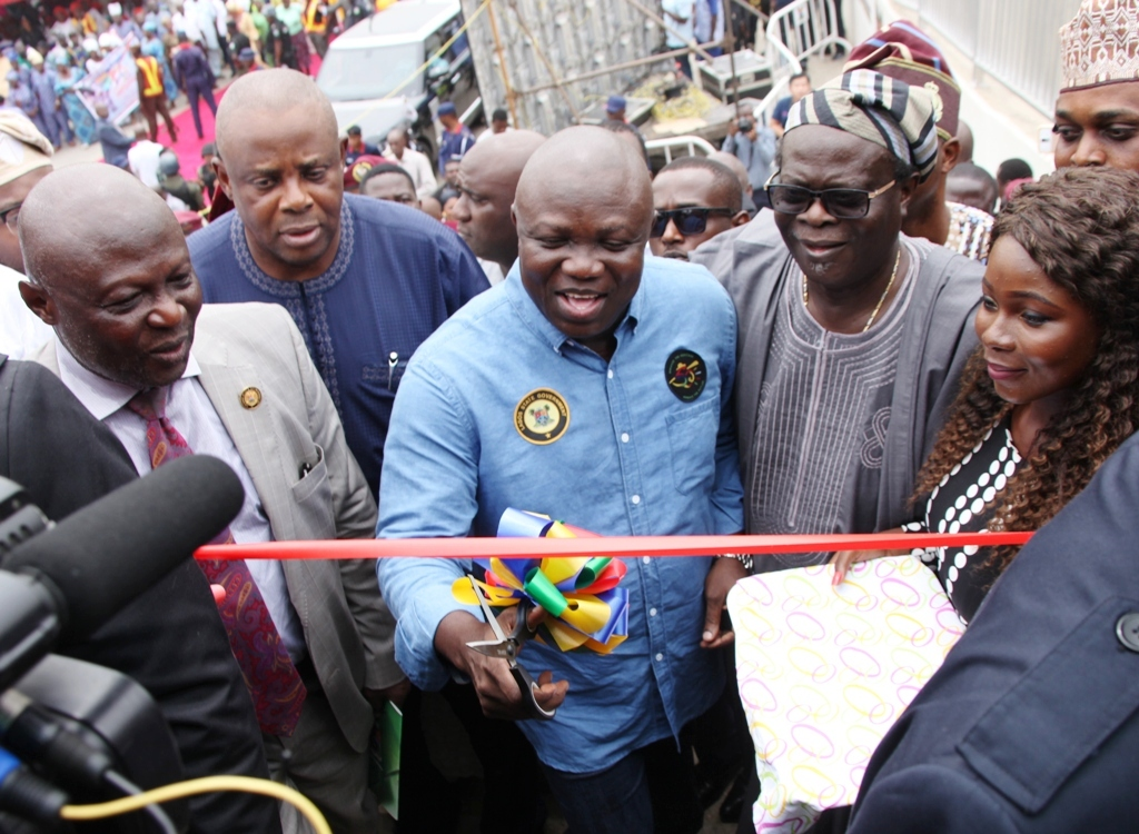 VIO PERMANENTLY BANNED FROM LAGOS ROADS- AMBODE  …Urges FRSC To Restrict Operations To Highways  …Commissions Pedestrian Bridges, Lay Bys, Slip Road in Ojodu Berger