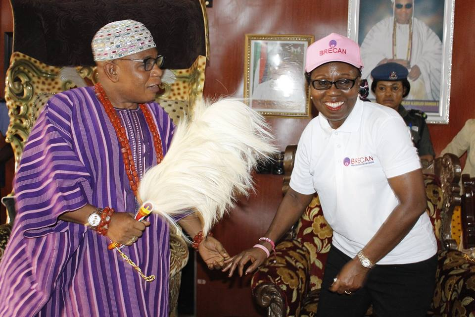 Deji of Akure Lauds Betty Akeredolu on Breast Cancer Awareness