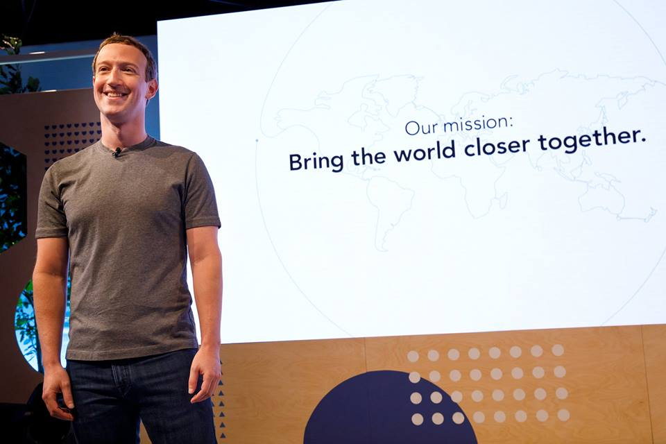 "The idea for our mission is: ""bring the world closer together""- Mark Zuckerberg Facebook Founder & CEO"
