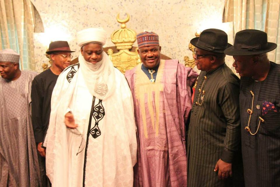UNITY OF NIGERIA: GOVERNOR WIKE, RIVERS LEADERS VISIT SULTAN