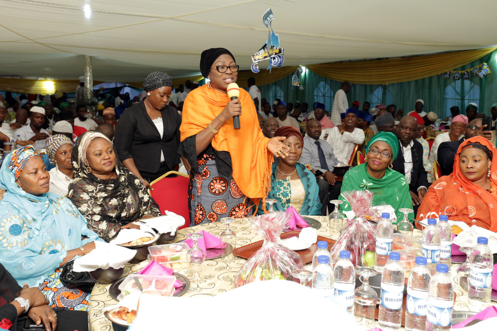 AMBODE'S WIFE PREACHES LOVE, TOLERANCE AT RAMADAN