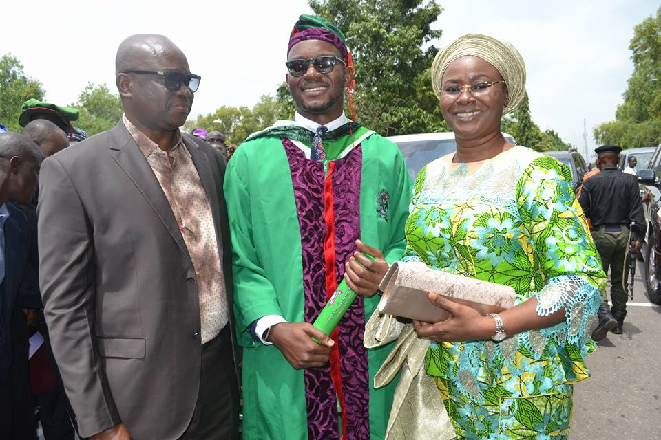 Fayose Celebrate Son's Graduation, Says Nigerian University can be Best in the World