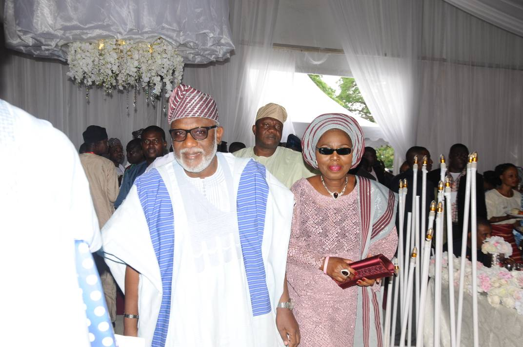 Gov Akeredolu, Wife Storm Abeokuta as Amosun gives out daughter in marriage