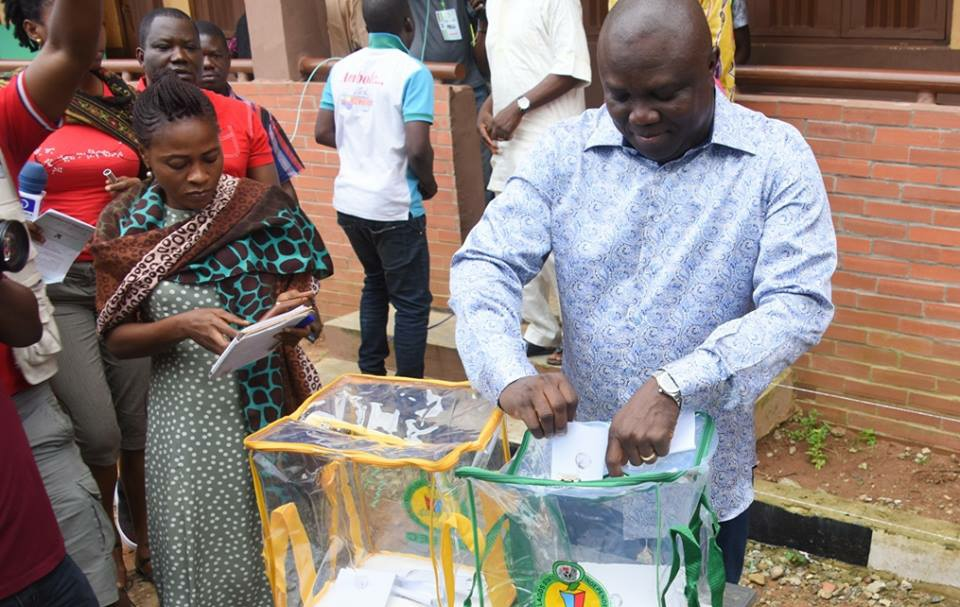 AMBODE VOTES IN EPE, SAYS NIGERIA MUST DEEPEN DEMOCRATIC VALUES …Commends Lagosians For Peaceful Conduct