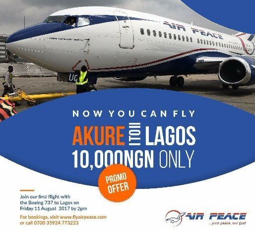 FLAG -OFF OF AIR TRANSPORT COMMERCIAL OPERATION OF THE LAGOS-AKURE-LAGOS ROUTE WITH AIR PEACE LIMITED