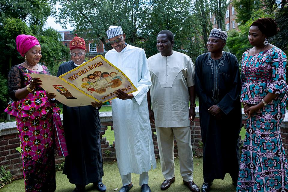 I'M OKAY, ONLY NEED TO OBEY DOCTORS' ORDERS, PRESIDENT BUHARI TELLS VISITING MEDIA TEAM
