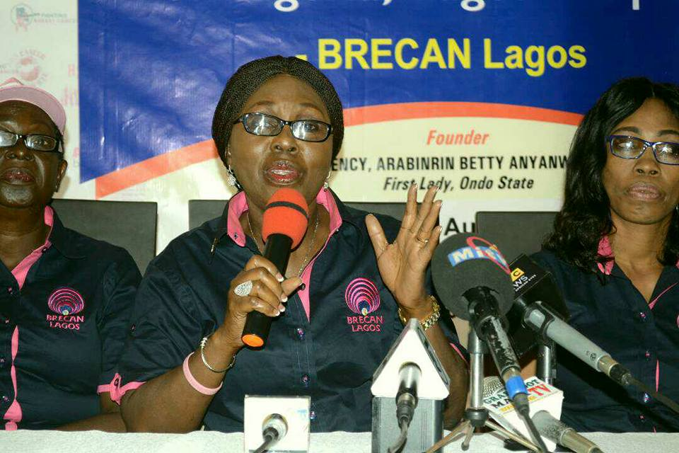 Betty Akeredolu Inaugurates BRECAN Lagos chapter, seeks Joint Support for Breast cancer Victims