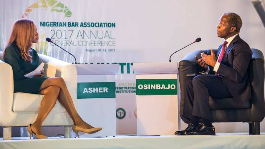 EXPECT DOUBLE EFFORTS IN DRIVING ECONOMIC GROWTH NOW THAT PRESIDENT IS BACK – VICE PRESIDENT OSINBAJO