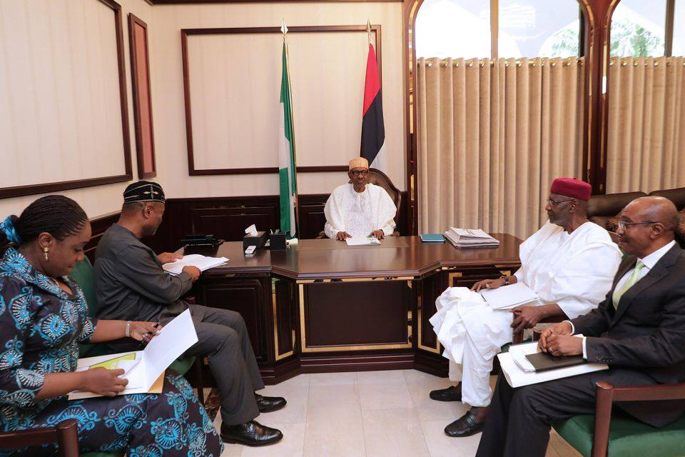 Buhari receives briefing, delighted at improving state of the economy