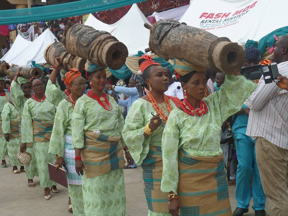 Photos: Display of the African cultural heritage at the Ewi's Palace, Ado Ekiti, venue of the 2017 Udiroko Festival