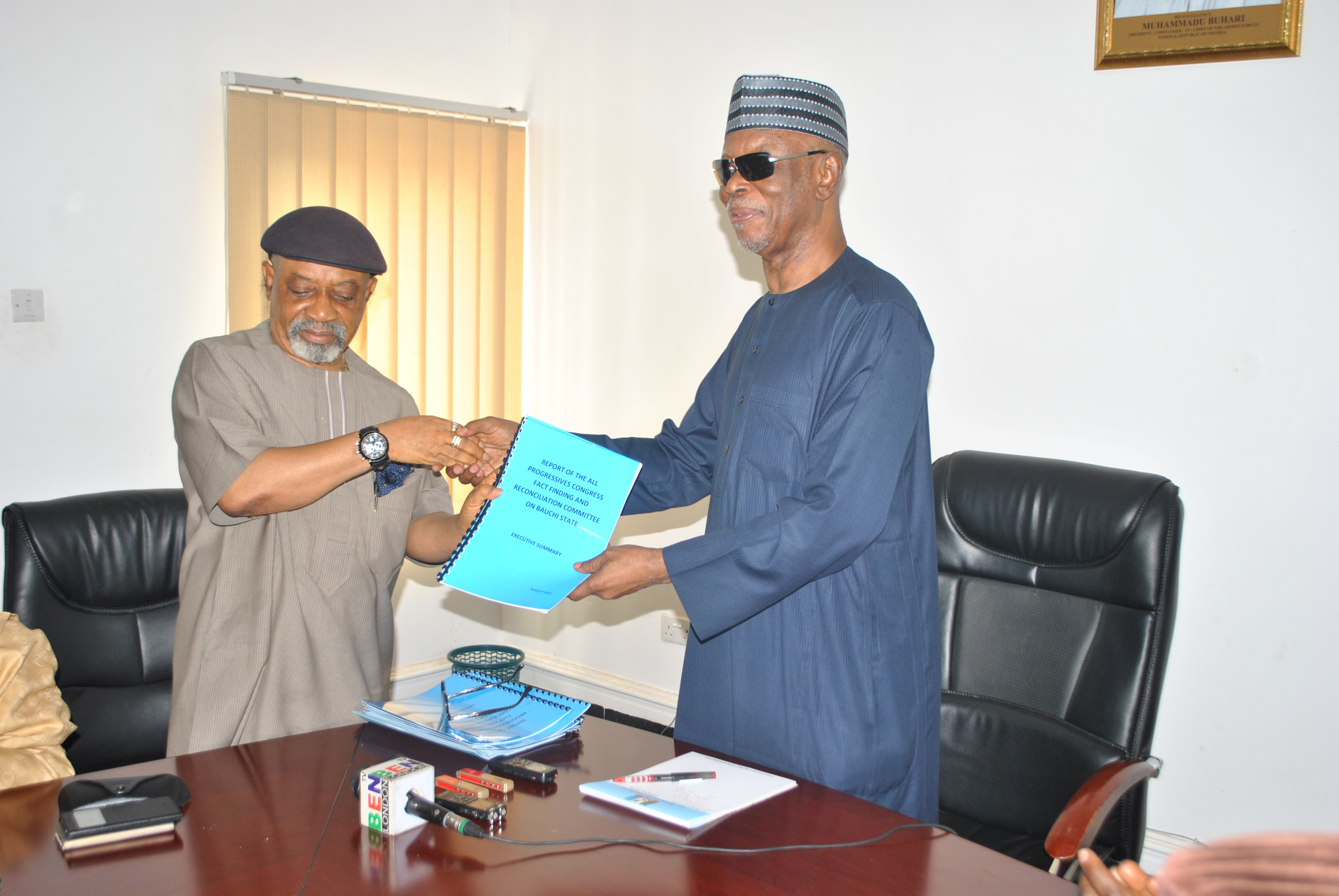 APC National Chairman Receives Report of Fact-Finding and Reconciliation Committee on Bauchi State