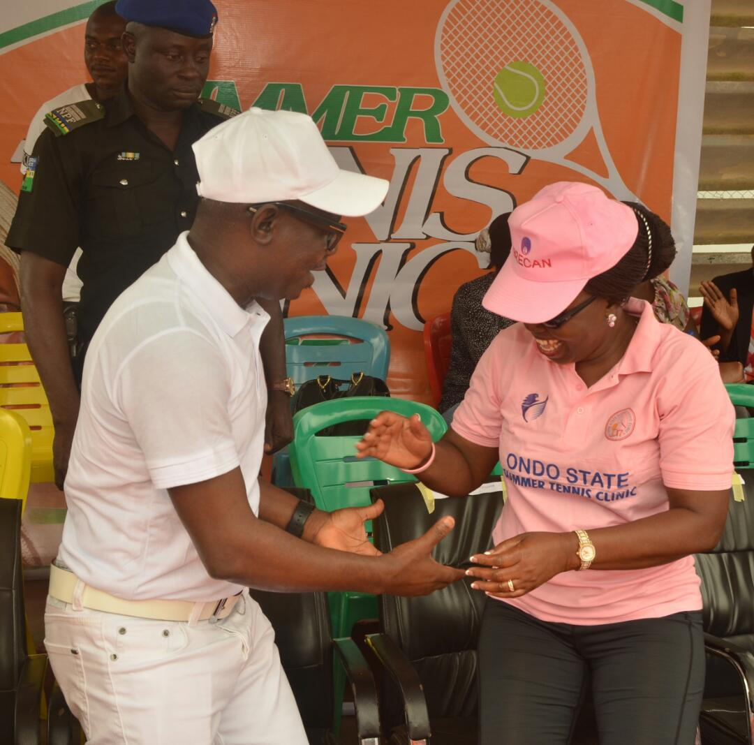 Photos: Mrs Akeredolu flags off Summer Tennis Clinic for Children of Primary And Secondary Schools in Ondo State
