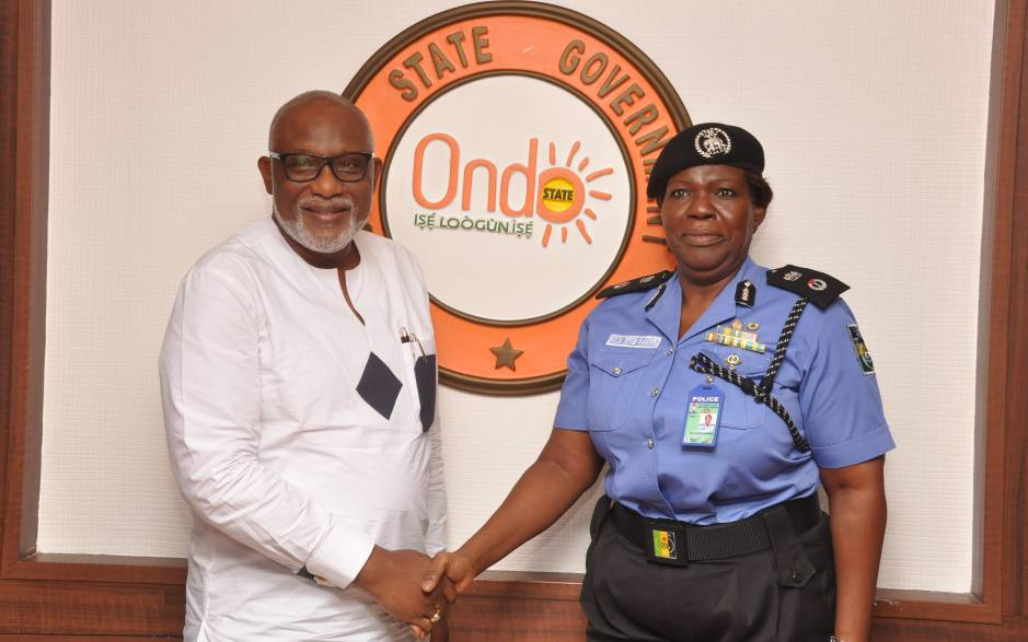 Governor Akeredolu, State Security Council pour encomiums on new AIG, Ibifuro-Harrison