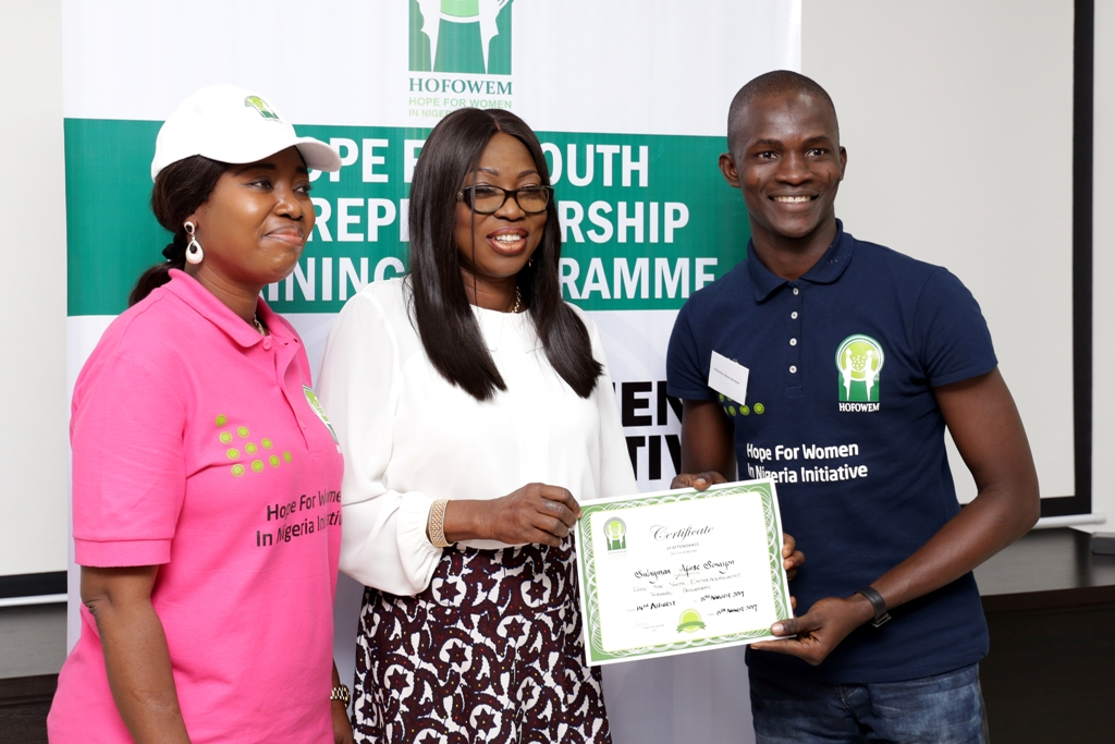INT'L YOUTH DAY: AMBODE'S WIFE EMPOWERS YOUTHS WITH ENTREPRENEURIAL SKILLS