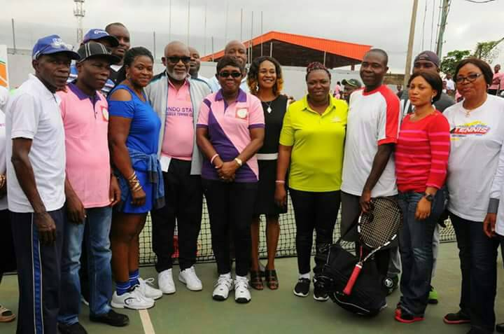 Photos: Gov Oluwarotimi Akeredolu, his wife, Betty Anyanwu-Akeredolu, DG's wife, Ajewole Agboola and Femi Agagu others attend closing ceremony of First Ondo State Summer Tennis Clinic