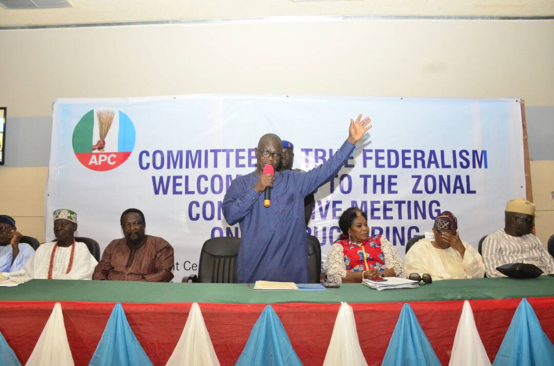 WELCOME ADDRESS DELIVERED BY THE GOVERNOR OF ONDO STATE, ARAKUNRIN OLUWAROTIMI ODUNAYO AKEREDOLU, SAN TO THE ALL PROGRESSIVES CONGRESS COMMITTEE ON TRUE FEDERALISM