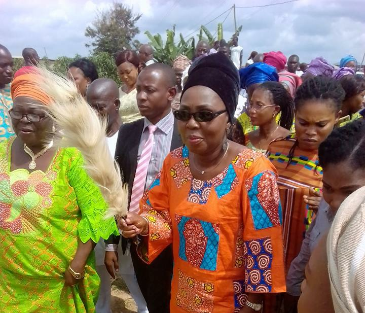 Betty Akeredolu lays neighbourhood market foundation
