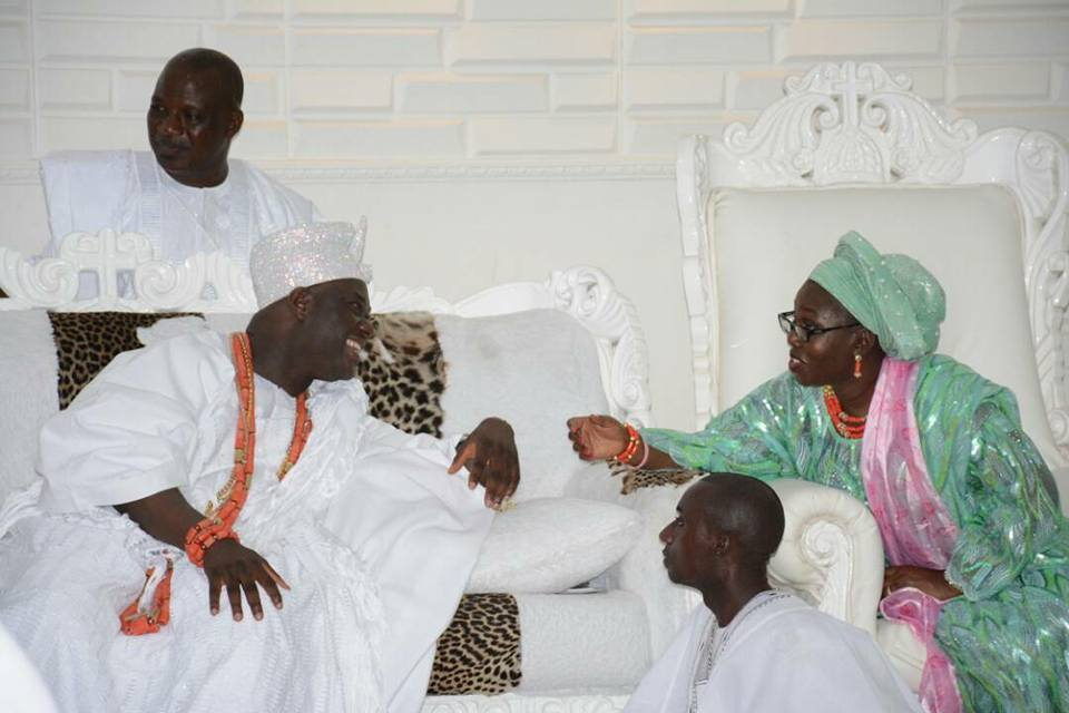 Photos: Ondo First Lady Visits Ooni of Ife